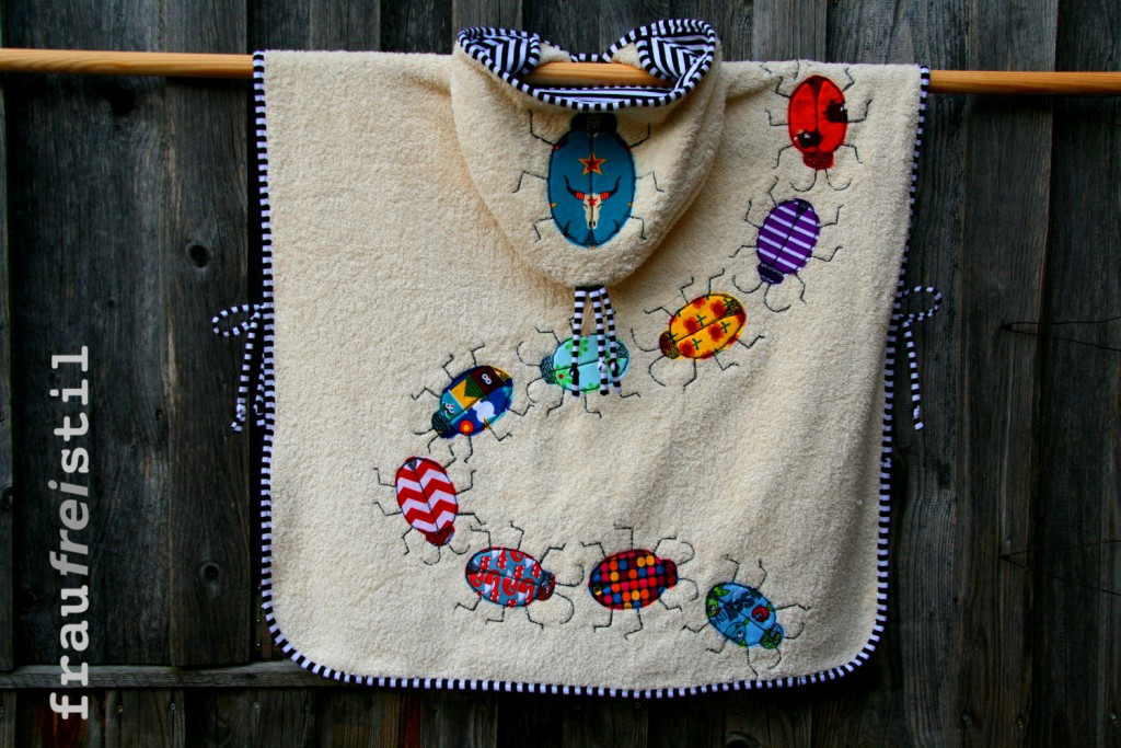 Webfrottee, Frottee, Poncho, nähen, DIY